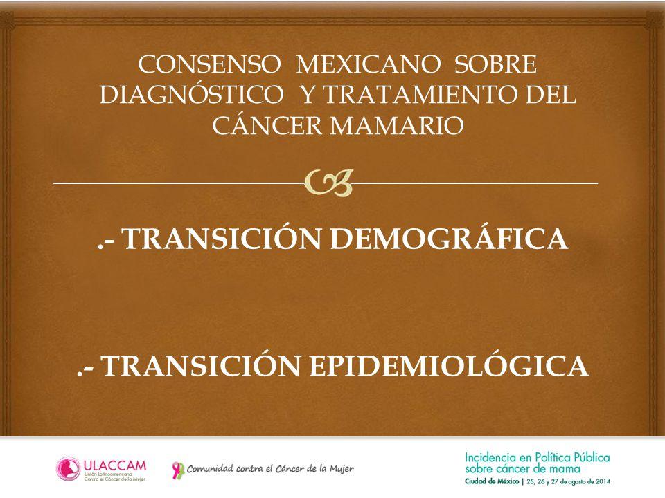 CONSENSO MEXICANO SOBRE DIAGNÓSTICO Y TRATAMIENTO DEL CÁNCER MAMARIO