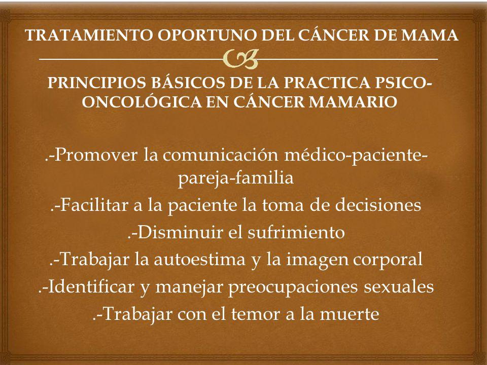 TRATAMIENTO OPORTUNO DEL CÁNCER DE MAMA