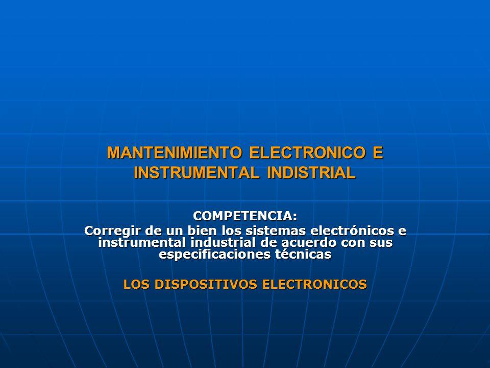 MANTENIMIENTO ELECTRONICO E INSTRUMENTAL INDISTRIAL