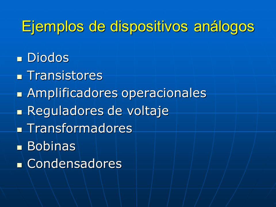 Ejemplos de dispositivos análogos