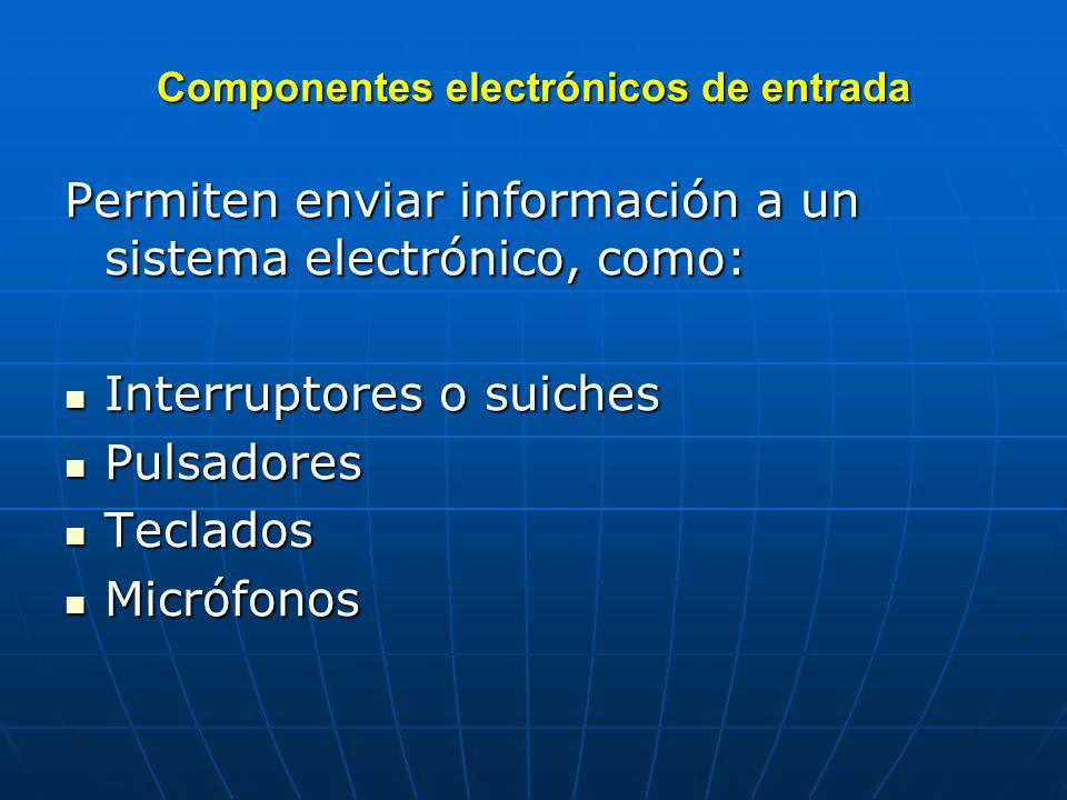 Componentes electrónicos de entrada