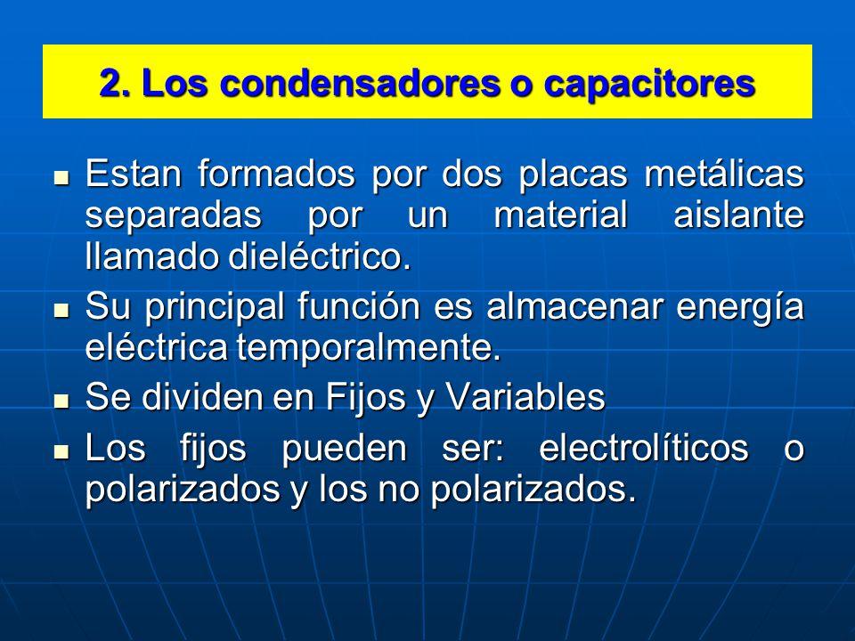 2. Los condensadores o capacitores