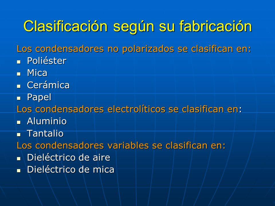 Clasificación según su fabricación