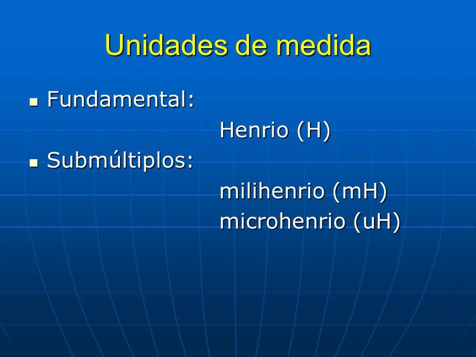 Unidades de medida Fundamental: Henrio (H) Submúltiplos: