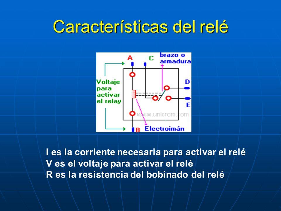 Características del relé