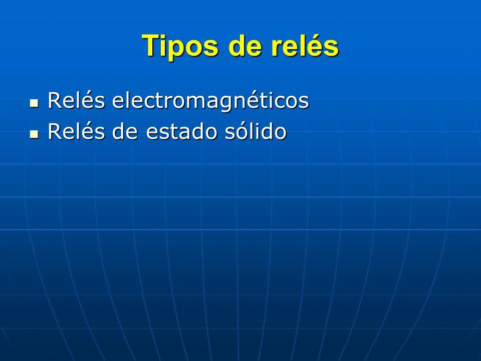 Tipos de relés Relés electromagnéticos Relés de estado sólido