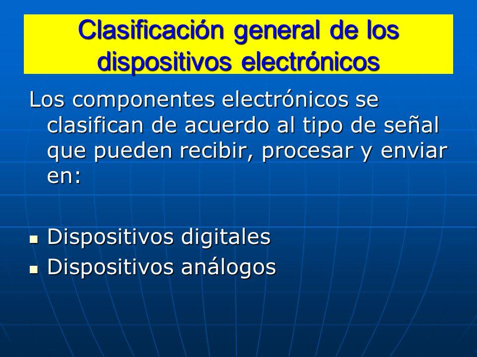 Clasificación general de los dispositivos electrónicos
