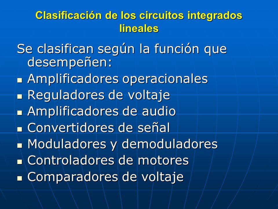 Clasificación de los circuitos integrados lineales