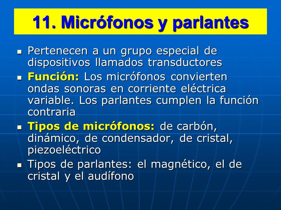 11. Micrófonos y parlantes