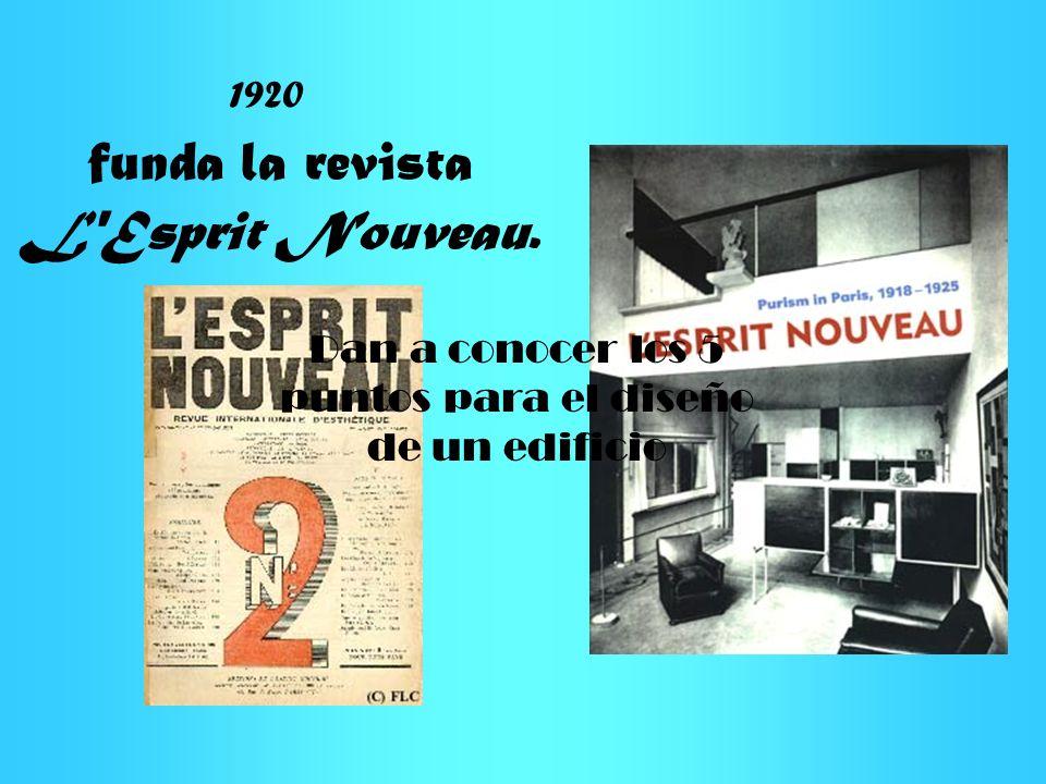 funda la revista L Esprit Nouveau.