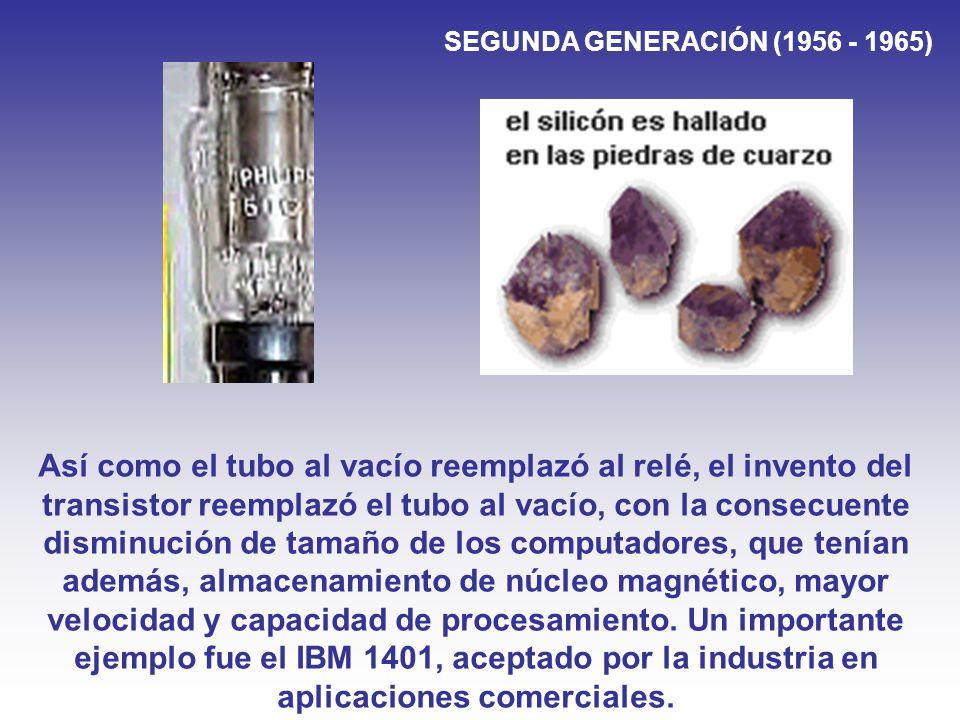 SEGUNDA GENERACIÓN (1956 - 1965)