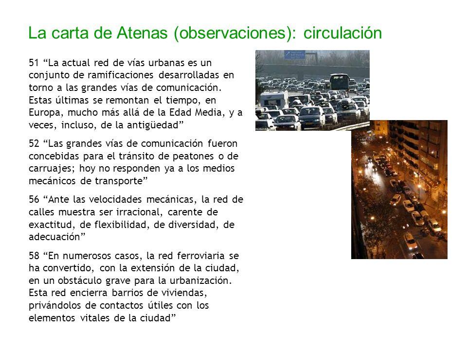 La carta de Atenas (observaciones): circulación