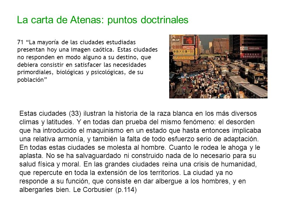 La carta de Atenas: puntos doctrinales