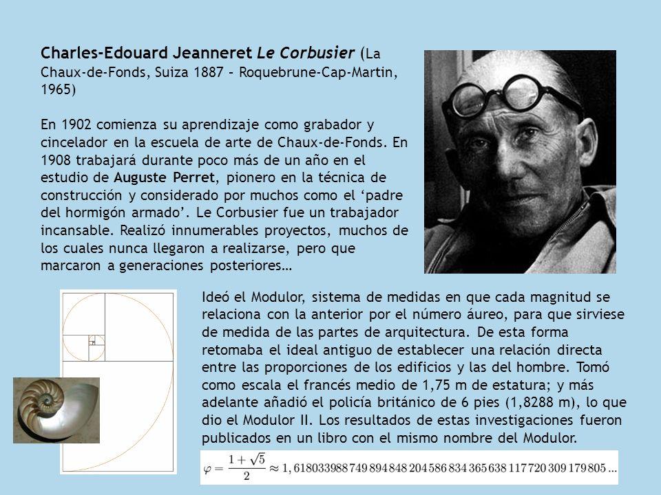 Charles-Edouard Jeanneret Le Corbusier (La Chaux-de-Fonds, Suiza 1887 – Roquebrune-Cap-Martin, 1965)