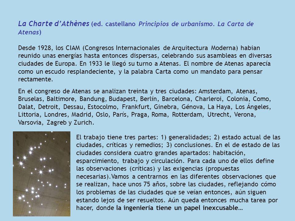 La Charte d'Athènes (ed. castellano Principios de urbanismo