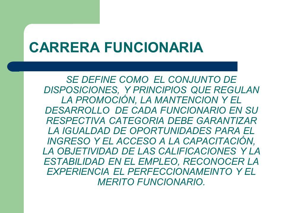 CARRERA FUNCIONARIA
