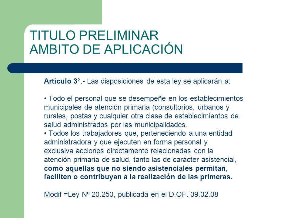 TITULO PRELIMINAR AMBITO DE APLICACIÓN