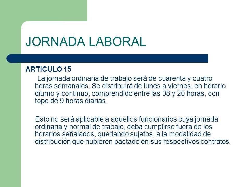 JORNADA LABORAL ARTICULO 15
