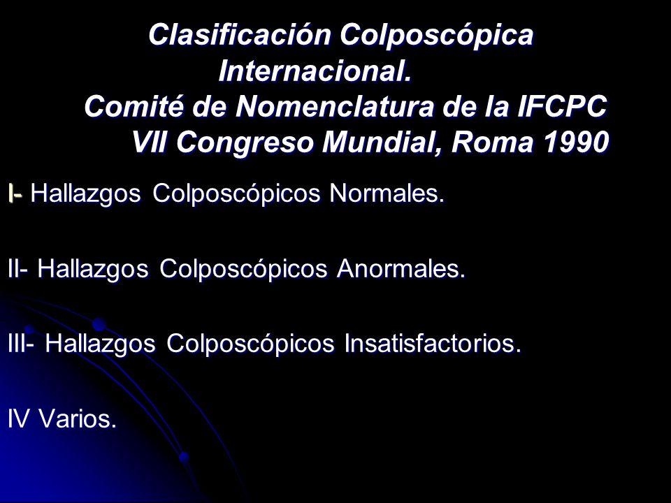Clasificación Colposcópica Internacional