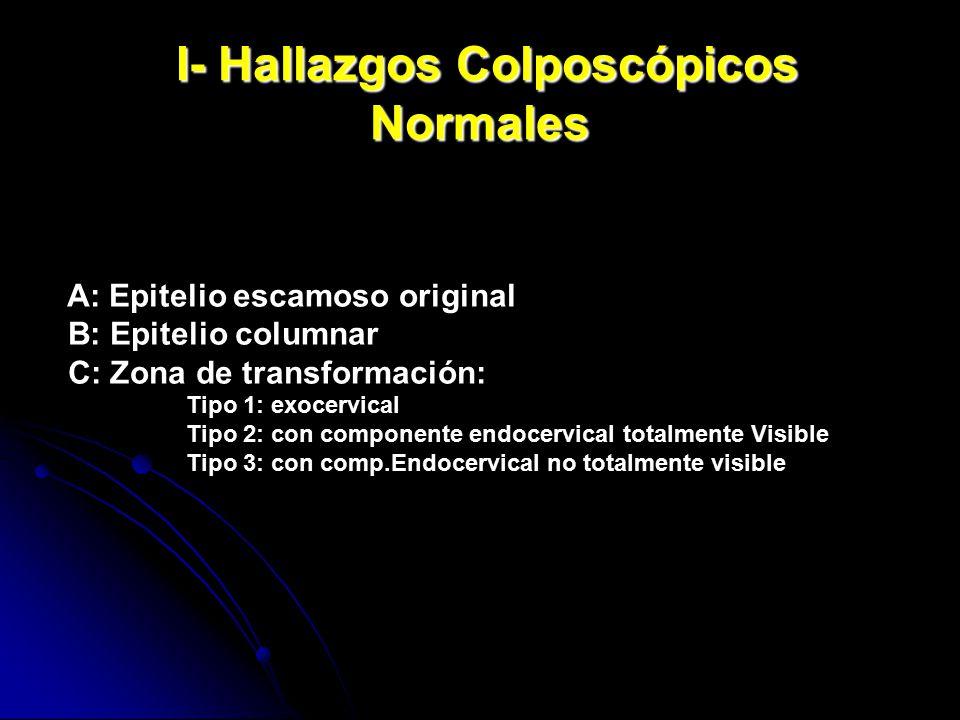 I- Hallazgos Colposcópicos Normales