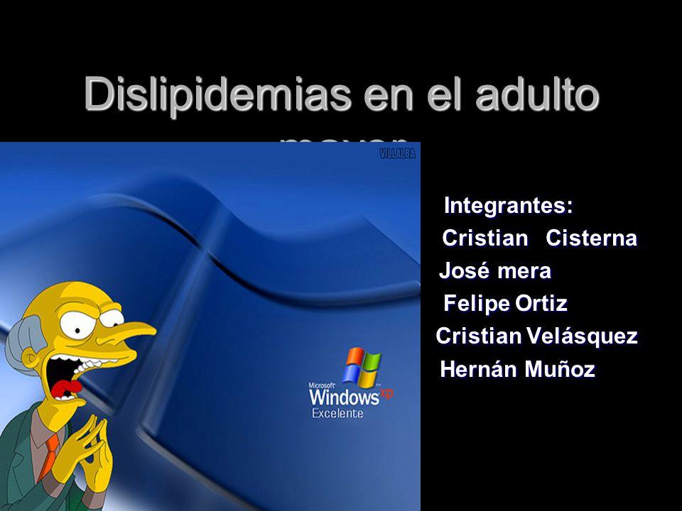 Dislipidemias en el adulto mayor