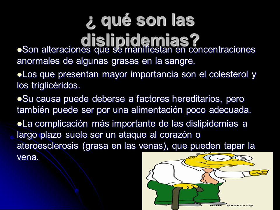 ¿ qué son las dislipidemias
