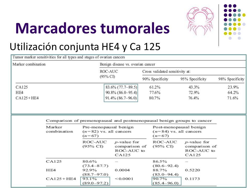 Marcadores tumorales Utilización conjunta HE4 y Ca 125