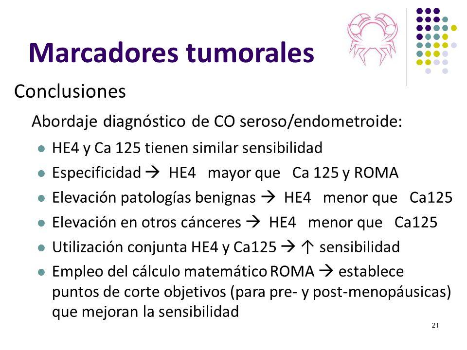 Marcadores tumorales Conclusiones