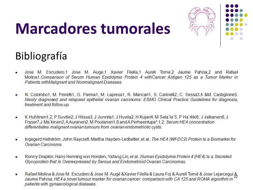 Marcadores tumorales Bibliografía