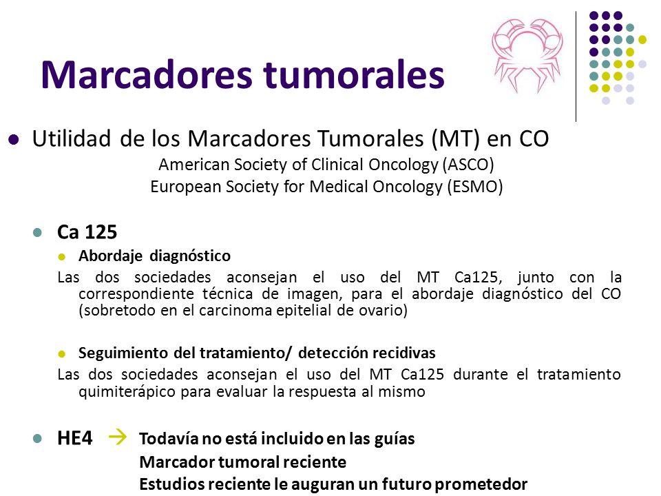 Marcadores tumorales Utilidad de los Marcadores Tumorales (MT) en CO