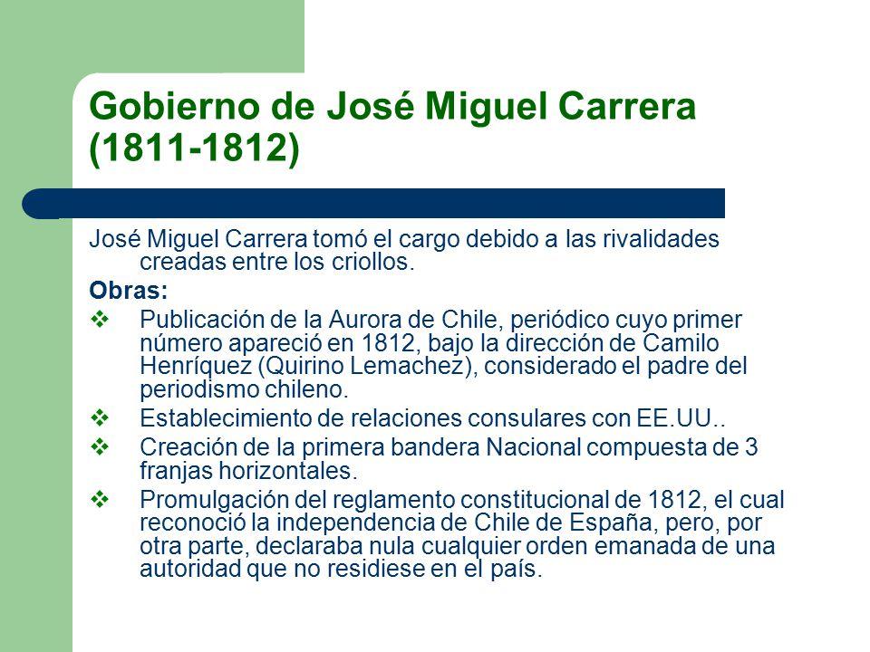 Gobierno de José Miguel Carrera (1811-1812)
