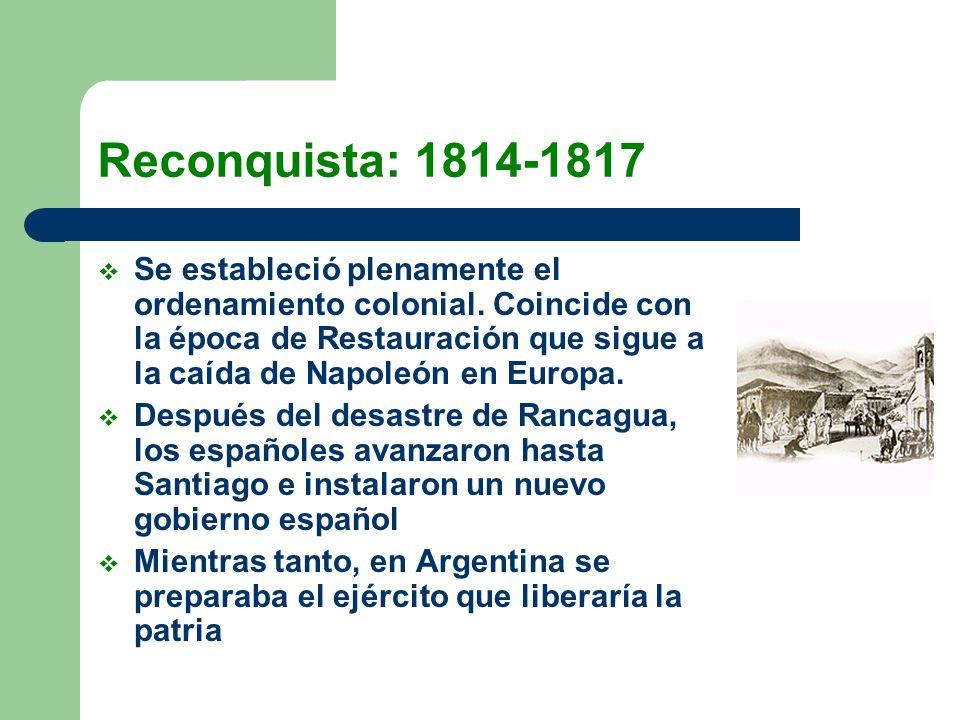 Reconquista: 1814-1817