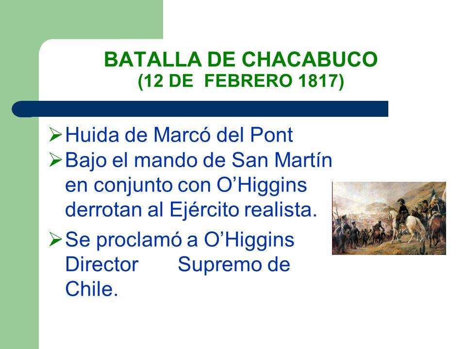 BATALLA DE CHACABUCO (12 DE FEBRERO 1817)