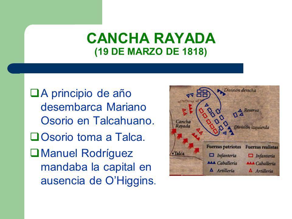 CANCHA RAYADA (19 DE MARZO DE 1818)