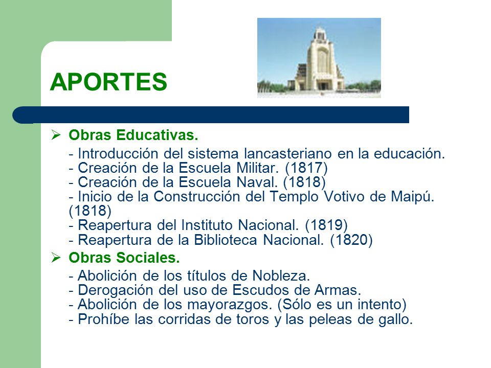 APORTES Obras Educativas.