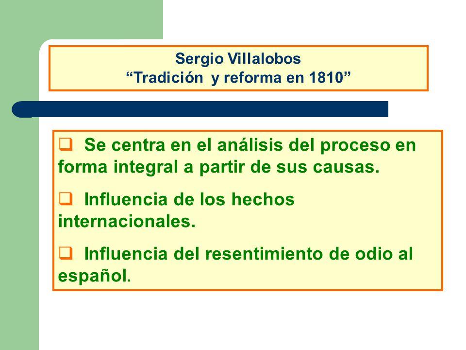 Sergio Villalobos Tradición y reforma en 1810