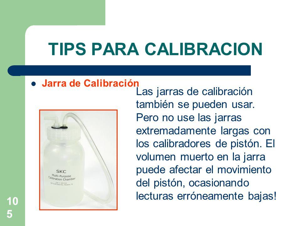 TIPS PARA CALIBRACION Jarra de Calibración.