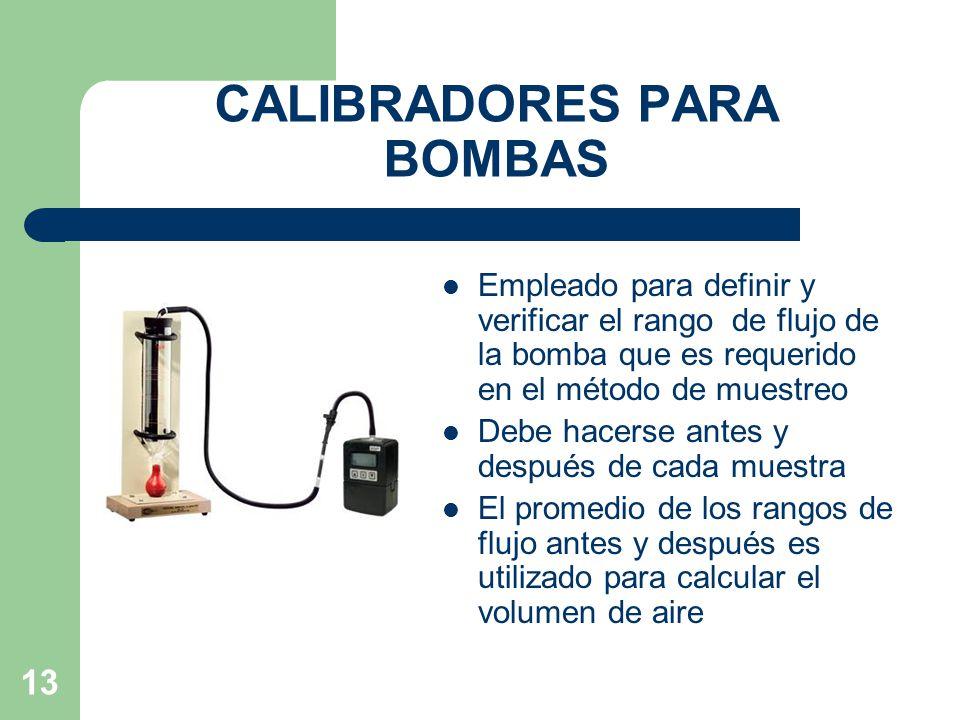 CALIBRADORES PARA BOMBAS
