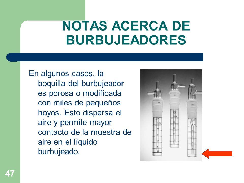 NOTAS ACERCA DE BURBUJEADORES