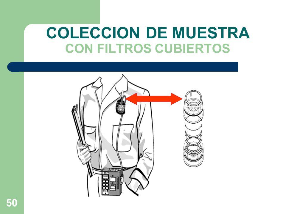 COLECCION DE MUESTRA CON FILTROS CUBIERTOS