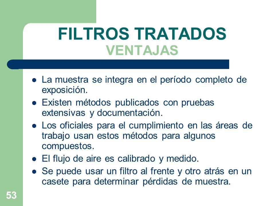 FILTROS TRATADOS VENTAJAS