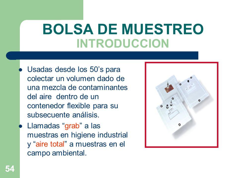 BOLSA DE MUESTREO INTRODUCCION