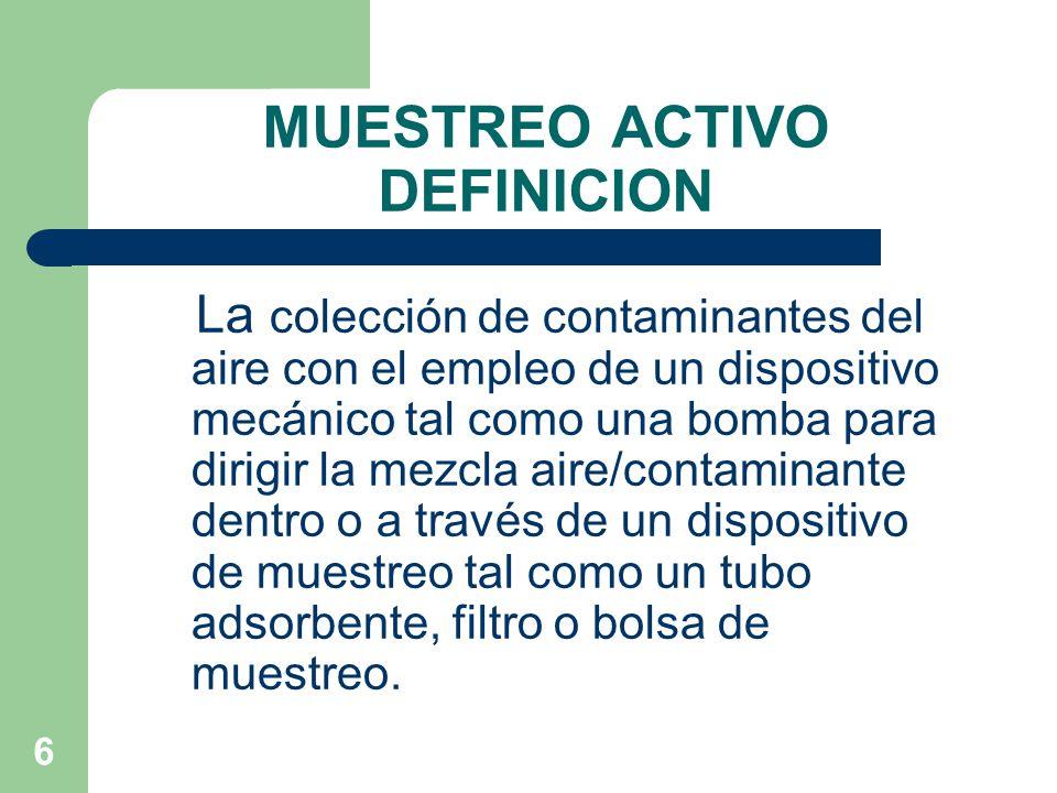 MUESTREO ACTIVO DEFINICION