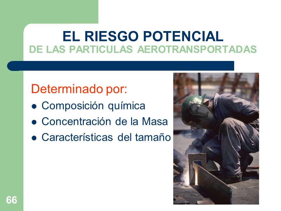 EL RIESGO POTENCIAL DE LAS PARTICULAS AEROTRANSPORTADAS