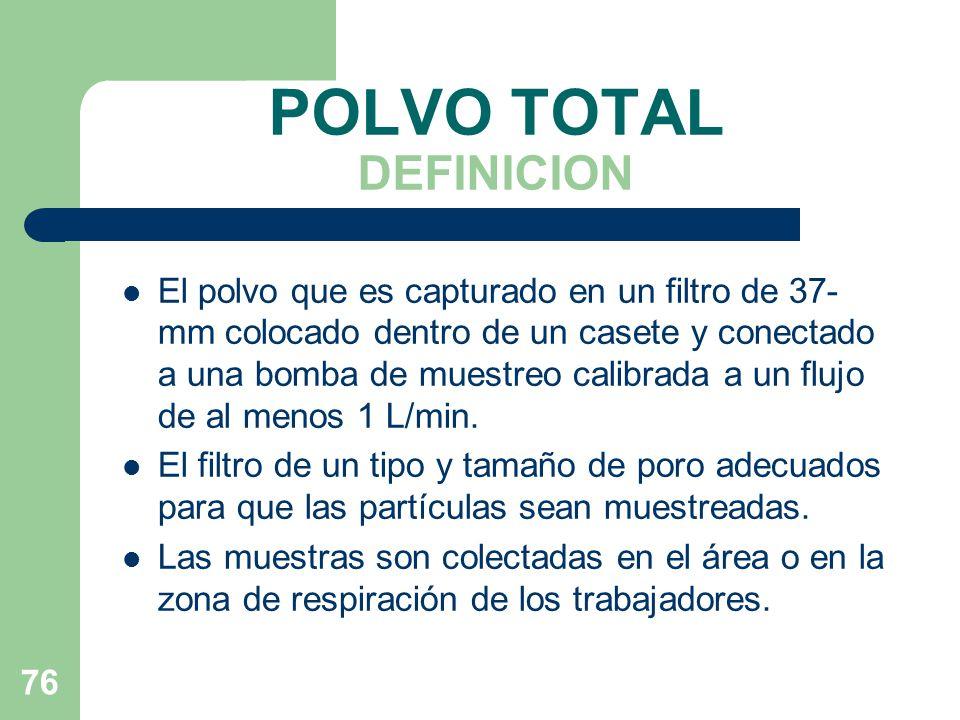 POLVO TOTAL DEFINICION
