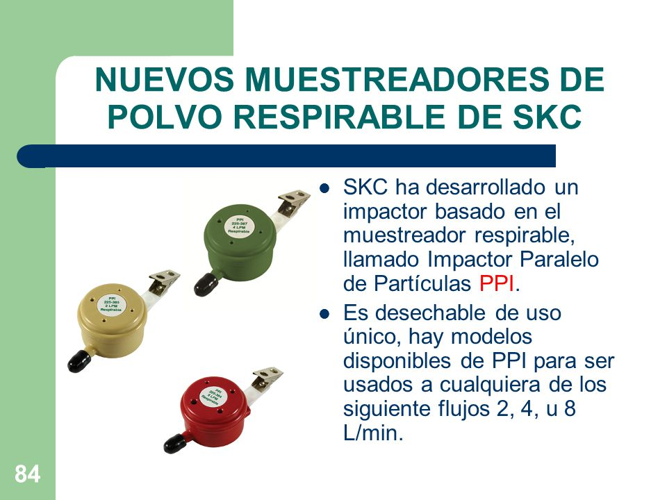 NUEVOS MUESTREADORES DE POLVO RESPIRABLE DE SKC