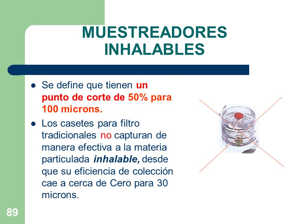 MUESTREADORES INHALABLES