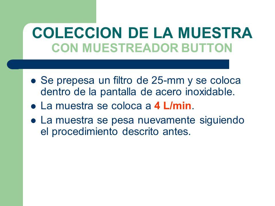 COLECCION DE LA MUESTRA CON MUESTREADOR BUTTON