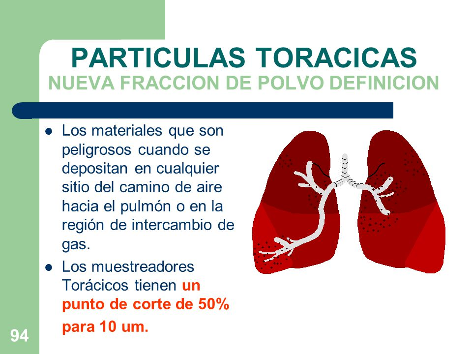 PARTICULAS TORACICAS NUEVA FRACCION DE POLVO DEFINICION