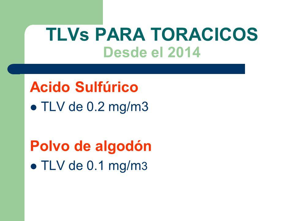 TLVs PARA TORACICOS Desde el 2014